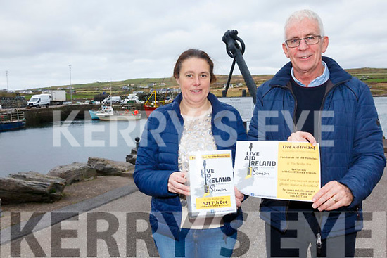 The Bridge Bar in Portmagee is one of the locations to host a Live Aid Ireland Concert on Saturday 7th December in association with the Simon Community raising funds for the homeless, pictured here l-r; Eimear Conway & Gerard Kennedy.