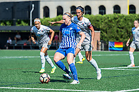 Boston, MA - Saturday June 24, 2017: Natasha Dowie and Abby Erceg during a regular season National Women's Soccer League (NWSL) match between the Boston Breakers and the North Carolina Courage at Jordan Field.