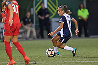 Portland, OR - Saturday July 22, 2017: Mallory Pugh during a regular season National Women's Soccer League (NWSL) match between the Portland Thorns FC and the Washington Spirit at Providence Park.