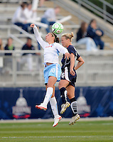 Chicago Red Stars forward Carli Lloyd (10) goes up for the header against  Washington Freedom midfielder Lory Lindsey (6) Washington Freedom tied Chicago Red Stars 1-1  at The Maryland SoccerPlex, Saturday April 11, 2009.