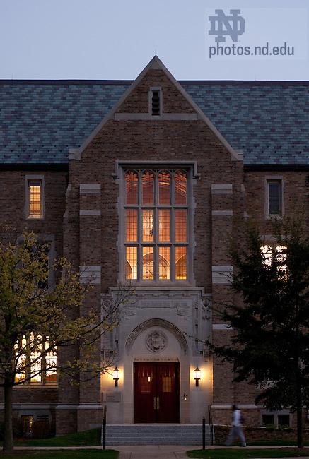 Biolchini Halll, Notre Dame Law School..Photo by Matt Cashore/University of Notre Dame