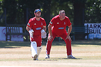 Marc Whitlock and Michael Bones of Hornchurch look on during Wanstead and Snaresbrook CC vs Hornchurch CC, Shepherd Neame Essex League Cricket at Overton Drive on 30th June 2018