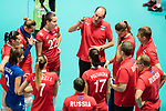 Head coach Ushakov Konstantin (C) of Russia gives instruction for his team during the FIVB Volleyball World Grand Prix match between Japan vs Russia on 23 July 2017 in Hong Kong, China. Photo by Marcio Rodrigo Machado / Power Sport Images