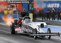 Feb 20, 2015; Chandler, AZ, USA; NHRA top fuel driver Dave Connolly during qualifying for the Carquest Nationals at Wild Horse Pass Motorsports Park. Mandatory Credit: Mark J. Rebilas-