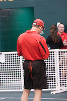 Central Missouri Co-Head Coach Kip Janvrin wears a red mule tale at the 2012 MIAA Indoor Track & Field Championships at Missouri Southern in Joplin, February 26. The Central Missouri Men won the team title while the Women placed second.