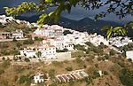 Pueblos Blancos village of Corumbela, Malaga province, Spain