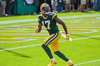 Green Bay Packers wide receiver Davante Adams (17) during a National Football League game against the Seattle Seahawks on September 10, 2017 at Lambeau Field in Green Bay, Wisconsin. Green Bay defeated Seattle 17-9. (Brad Krause/Krause Sports Photography)