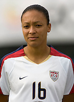 Angela Hucles. The USWNT defeated, 2-0, at the Suwon Sports Center in Suwon, South Korea.