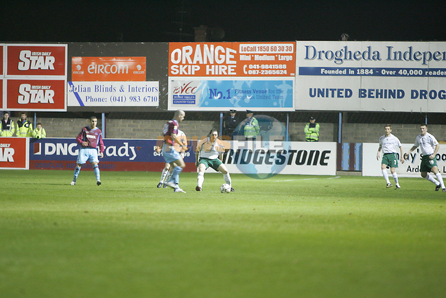 Drogheda United V Bray with Bridgestone Sinage in he Back ground. Photo: Newsfile/Fran Caffrey.
