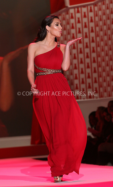WWW.ACEPIXS.COM . . . . .  ....February 11 2010, New York City....Kim Kardashian walks the runway for The Heart Truth Red Dress Collection Fall 2010 during Mercedes-Benz Fashion Week at Bryant Park on February 11, 2010 in New York City....Please byline: NANCY RIVERA- ACE PICTURES.... *** ***..Ace Pictures, Inc:  ..tel: (212) 243 8787 or (646) 769 0430..e-mail: info@acepixs.com..web: http://www.acepixs.com