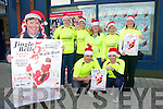 Jingle Bell Run : Launching the Kerry Crusaders Jingle Bell Family Fun Walk/Run day to be held in Listowel on Sunday 5th December are Dominick Moloney, Christine Purcell, Bernie Sheehy, June Moloney, Geraldine O'Donovan &  Siobhan Mahony. Front : Gordon Flannery & Vincent O'Leary.