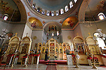 Jerusalem, Israel, The Russian Orthodox Church of the Ascension on the Mount of Olives was built between 1870 and 1887, interior<br />