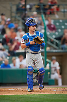 Buffalo Bisons catcher Reese McGuire (7) during an International League game against the Rochester Red Wings on May 31, 2019 at Frontier Field in Rochester, New York.  Rochester defeated Buffalo 5-4 in ten innings.  (Mike Janes/Four Seam Images)