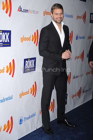 Ricky Martin at the 22nd Annual GLAAD Media Awards at The New York Marriott Marquis on March 19, 2011 in New York City. Credit: Dennis Van Tine/MediaPunch