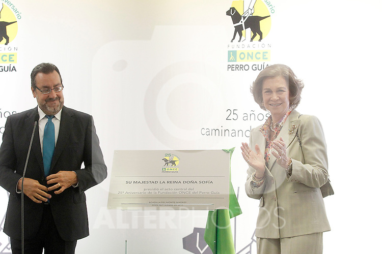 Queen Sofia of Spain and ONCE's President Miguel Carballeda attend the 25th anniversary of 'Perro Guia ONCE's Foundation'. September 24, 2015.(ALTERPHOTOS/Acero)
