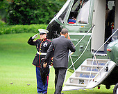 United States President Barack Obama departs for a campaign trip on Tuesday, June 12, 2012.  The President will travel to Baltimore, Maryland and Philadelphia, Pennsylvania before returning to the White House lat in the evening..Credit: Ron Sachs / CNP