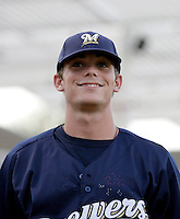 Scooter Gennett - AZL Brewers (2009 Arizona League)..Photo by:  Bill Mitchell/Four Seam Images..