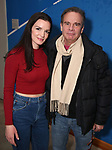 """Jennifer Damiano and Peter Scolari from the cast of The New Group production of """"Bob & Carol & Ted & Alice"""" at the Linney Theatre on January 26, 2020 in New York City."""