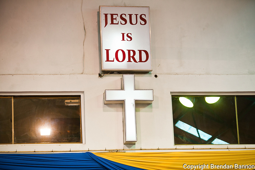 Nairobi's Winner's Chapel, a fast growing evangelical Christian Church, founded in Nigeria.