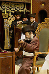 Israel, Bnei Brak. Hanukkah at the Premishlan congregation, the Rebbe is playing the violin&amp;#xA;<br />