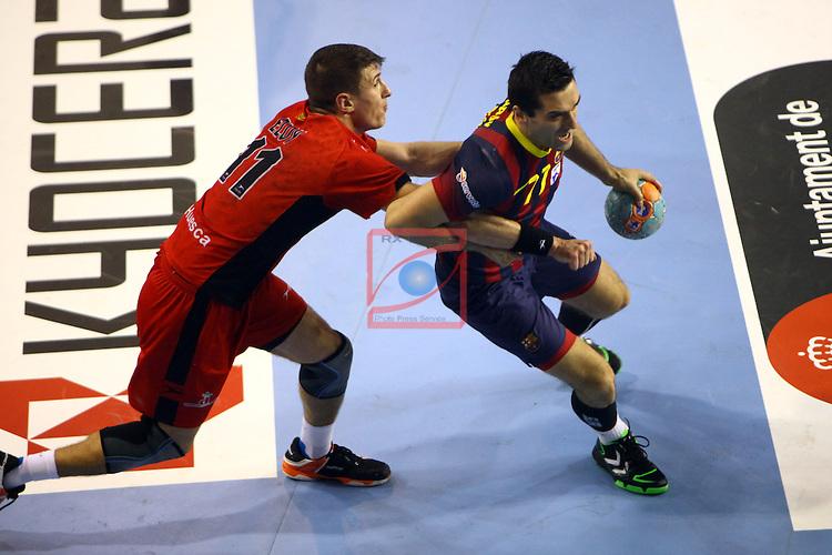 XXIV Copa ASOBAL - Game: 2<br /> FC Barcelona vs BM Huesca: 39-25.<br /> Eloy vs Kiril Lazarov.