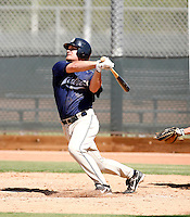Logan Forsythe / San Diego Padres 2008 Instructional League..Photo by:  Bill Mitchell/Four Seam Images