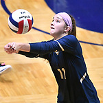 Althoff player Mary Wessel sets the ball for a teammate. Althoff lost to Minooka in the championship game of the O'Fallon Class 4A volleyball sectional at O'Fallon HS in O'Fallon, IL on November 6, 2019.<br /> Tim Vizer/Special to STLhighschoolsports.com