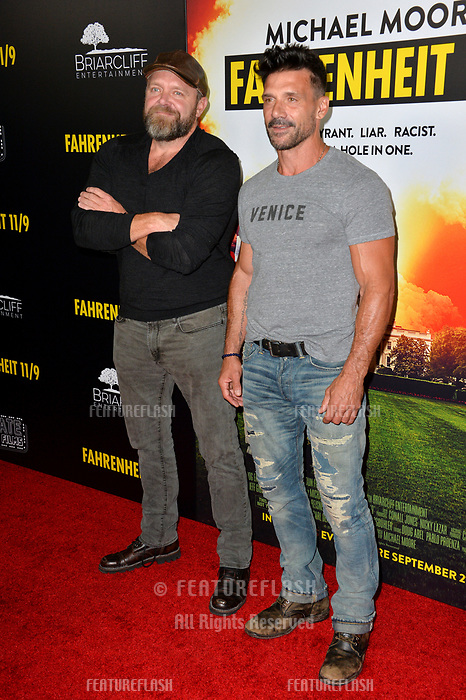 LOS ANGELES, CA. September 19, 2018: Joe Carnahan &amp; Frank Grillo at the Los Angeles premiere for Michael Moore's &quot;Fahrenheit 11/9&quot; at the Samuel Goldwyn Theatre.<br /> Picture: Paul Smith/Featureflash