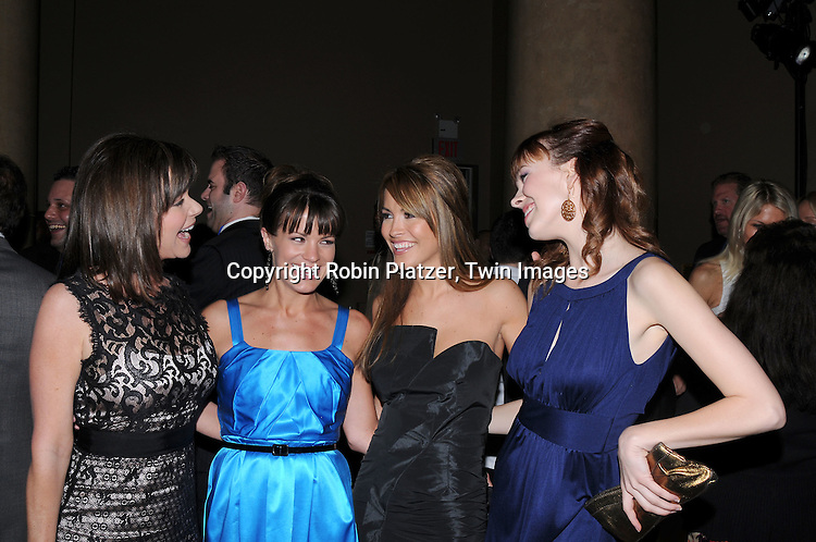 All My Children group Bobbie Eakes, Melissaa Claire Egan, ..Chrishell Stause and Brittany Allen..attending Samsung's 8th Annual Four Seasons of Hope Gala on June 16, 2009 at Cipriani's Wall Street in New York City. ..Robin Platzer, Twin Images