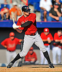 7 March 2011: Houston Astros' outfielder T.J. Steele in action during a Spring Training game against the Washington Nationals at Space Coast Stadium in Viera, Florida. The Nationals defeated the Astros 14-9 in Grapefruit League action. Mandatory Credit: Ed Wolfstein Photo