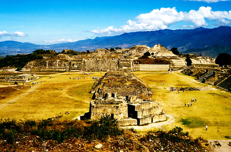 Mexico: Oaxaca..Monte Alban ruins, archaeology..Photo Copyright Lee Foster, Photo #: mxhuat101, www.fostertravel.com, 510/549-2202, lee@fostertravel.com.