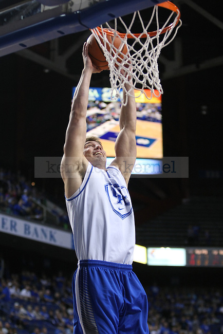 Todd Lanter shoots the ball during the Blue and White Scrimmage in Rupp Arena in Lexington, Ky., on Monday, October 27,  2014. Photo by Emily Wuetcher | Staff