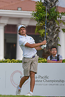 David MICHELUZZI (AUS) watches his tee shot on 12 during Rd 2 of the Asia-Pacific Amateur Championship, Sentosa Golf Club, Singapore. 10/5/2018.<br /> Picture: Golffile | Ken Murray<br /> <br /> <br /> All photo usage must carry mandatory copyright credit (© Golffile | Ken Murray)