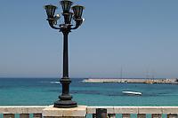 - Puglia, Otranto, lampione sul lungomare<br /> <br /> - Apulia, Otranto, lamppost on waterfront