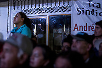 June 23, 2018: Andres Manuel Lopez Obrador, an opposition candidate of MORENA party running for presidency, gives a speech to supporters during his campaign rally at the Zocalo square in Tlaxcala City, Mexico. National elections will be hold on July 1.