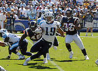 Sept. 17, 2006; San Diego, CA, USA; Tennessee Titans wide receiver (19) Bobby Wade against the San Diego Chargers at Qualcomm Stadium in San Diego, CA. Mandatory Credit: Mark J. Rebilas