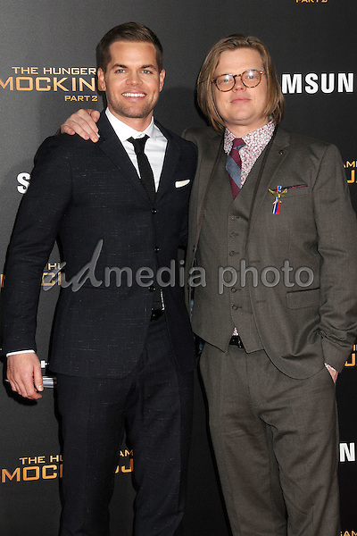 """16 November 2015 - Los Angeles, California - Wes Chatham, Elden Henson. """"The Hunger Games: Mockingjay - Part 2"""" Los Angeles Premiere held at the Microsoft Theater. Photo Credit: Byron Purvis/AdMedia"""