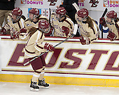Caitlin Walsh (BC - 11) - The Boston College Eagles defeated the visiting Harvard University Crimson 3-1 in their NCAA quarterfinal matchup on Saturday, March 16, 2013, at Kelley Rink in Conte Forum in Chestnut Hill, Massachusetts.