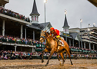 LOUISVILLE, KY - MAY 05: Abel Tasman #13 with Mike Smith aboard wins the Kentucky Oaks at Churchill Downs on May 5, 2017 in Louisville, Kentucky. (Photo by Alex Evers/Eclipse Sportswire/Getty Images)