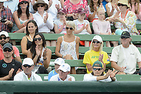 MELBOURNE, AUSTRALIA - JANUARY 12: The family of LLEYTON HEWITT (AUS) celebrate his win in the 2013 AAMI Classic event against JUAN MARTIN DEL POTRO (ARG) 6-1 6-4 at the Kooyong Lawn Tennis Club in Melbourne, Australia. (Photo Sydney Low)