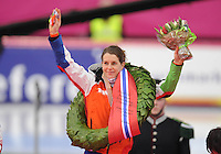 SCHAATSEN: HAMAR: Vikingskipet, 11-01-2014, Essent ISU European Championship Allround, Kampioen Ireen Wüst (NED), ©foto Martin de Jong