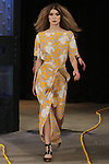 Lara (Fenton Models) walks runway in an outfit from the Saunder Fall Winter 2016 collection by Emily Saunders during New York Fashion Week Fall 2016.