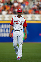 9 March 2009: #15 Carlos Beltran is seen prior to the 2009 World Baseball Classic Pool D game 4 at Hiram Bithorn Stadium in San Juan, Puerto Rico. Puerto Rico wins 3-1 over Netherlands