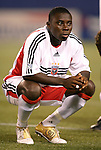 2 October 2004: Freddy Adu before the game. DC United defeated the MetroStars 1-0 at Giants Stadium in East Rutherford, NJ during a regular season Major League Soccer game..