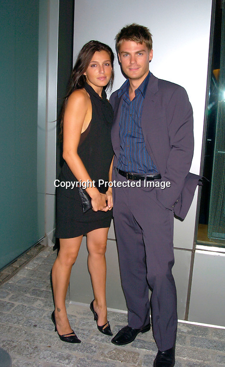 Jessica Atkins and Jeff Branson ..at the Hotel Gansavoort for a party to launch All My Children Enchantment Perfume on September 22, 2004...Photo by Robin Platzer, Twin Images