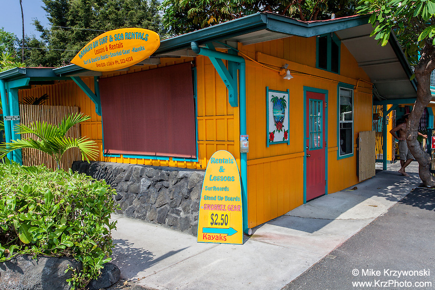 Kahalu'u Surf & Sea Rentals shop, Kailua-Kona, Big Island, Hawaii
