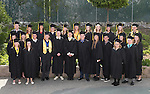 Jump Start graduates pose before the 45th annual Western Nevada College Commencement ceremony in Carson City, Nev., on Monday, May 23, 2016. A record 556 graduates received 598 degrees.<br />