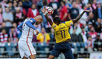 Seattle, WA - June 16, 2016: The U.S. Men's National team go up 1-0 over Ecuador in Quarterfinal action at the 2016 Copa America Centenario at CenturyLink Field.