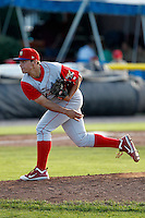 Williamsport Crosscutters pitcher Colton Murphy #40 during the first game of a doubleheader against the Batavia Muckdogs at Dwyer Stadium on August 23, 2011 in Batavia, New York.  Batavia defeated Williamsport 2-1.  (Mike Janes/Four Seam Images)