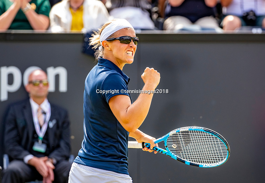 Den Bosch, Netherlands, 16 June, 2018, Tennis, Libema Open, Kristen Flipkens (BEL)<br />